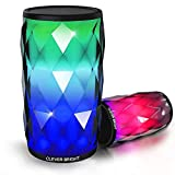 Bluetooth Lautsprecher,LED Touch Control Farbenfroher Tragbares Nachtlicht Bluetooth Lautsprecher,Drahtloser Bluetooth Lautsprecher, Eingebautes Mikrofon, AUX und Freisprecheinrichtung für Partys