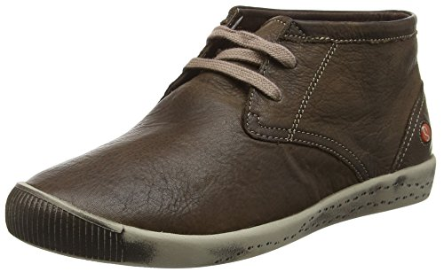 Softinos Indira washed, Derby femme Marron - Brown (Coffee)