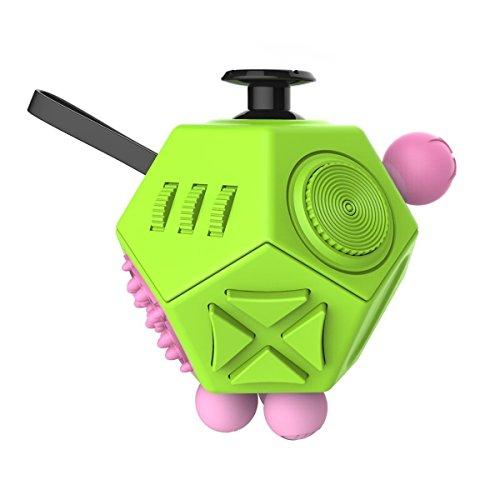 G-Hawk® - Fidget Toy Cube, juguetes de liberación de estrés anti-ansiedad, 12lados, aumenta la concentración y la atención, para los niños y los adultos