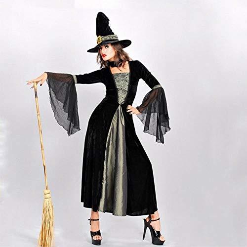 GUAN Halloween Hexe Kostüm Vampir Zombie Kostüm Dämon Königin Kleid Maskerade Cosplay - Dämon Hexe Kostüm