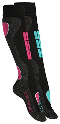 2 Paar Original VCA® SKI Funktionssocken, Wintersport Socken mit Spezial Polsterung