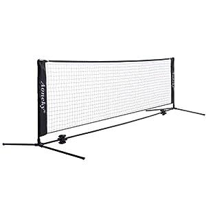 Aoneky Tennisnetz & Badmintonnetz & Federballnetz Mit Ständer, Garten & Spielplatz