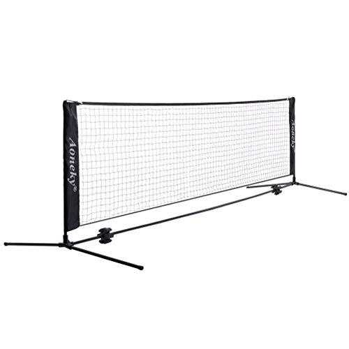Aoneky Tennisnetz & Badmintonnetz & Federballnetz Mit Ständer, beste Wahl zum Out-Sport, geeignet für Garten & Spielplatz, 3 x 0.8m