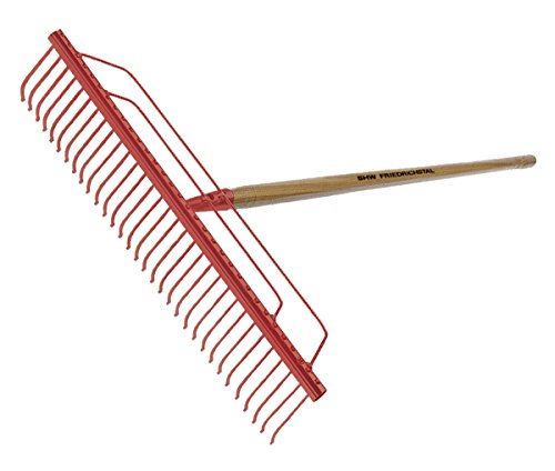 SHW Rasenrechen 56 Zinken 100 cm ohne Stiel Harke Gras Laub Heu Rechen Garten