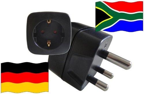 Preisvergleich Produktbild Reise-Urlaubsstecker für Südafrika mit Schutzkontakt und Kindersicherung 250 Volt Deutschland