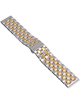 26mm Herren Damen Gold Stahl Edelstahl Quarz Wrist Uhren-Armband Uhrenarmbänder Uhrband Watch Band Watch Strap...