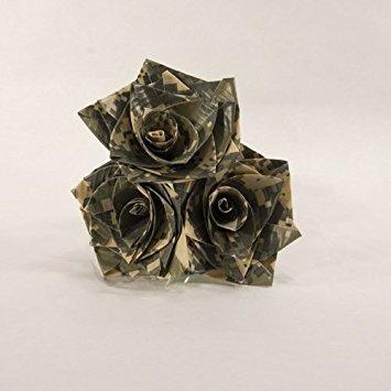 Camuflaje flores cinta americana de ramo de rosas