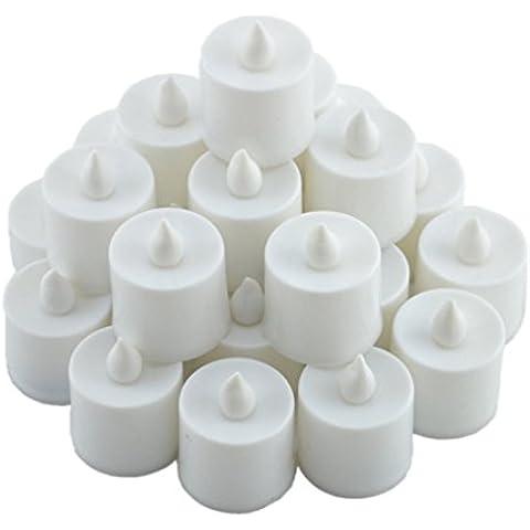 YARBAR Senza fiamma LED del tè luce candele, pile, Unscented LED candele, candele falso Confezione da 24 effetto realistico e Bright per il partito, Wedding