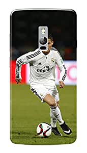 OnePlus Two Black Hard Printed Case Cover by HACHI - Ronaldo Football Fans design