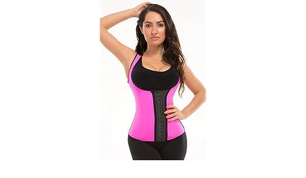 ead923098a5 Trufigure Colombian Sport Chaleco Latex Vest w 3-Hooks - Pink - XXXL   Amazon.co.uk  Clothing
