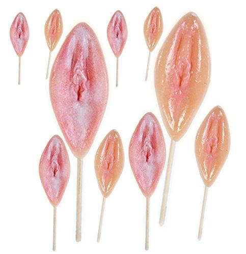 Vagina Lollys 10 Stück - Muschi Lutscher - für den Junggesellenabschied
