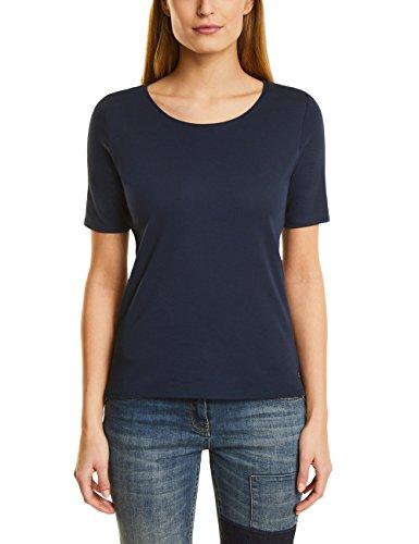 Cecil Damen T-Shirt 311780 Lena, Blau (Deep Blue 10128), XX-Large