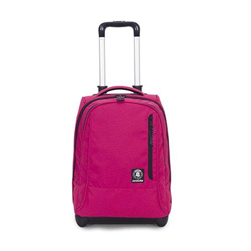 Trolley invicta - tindy- rosa - 36 lt spallacci a scomparsa! uso zaino scuola e viaggio