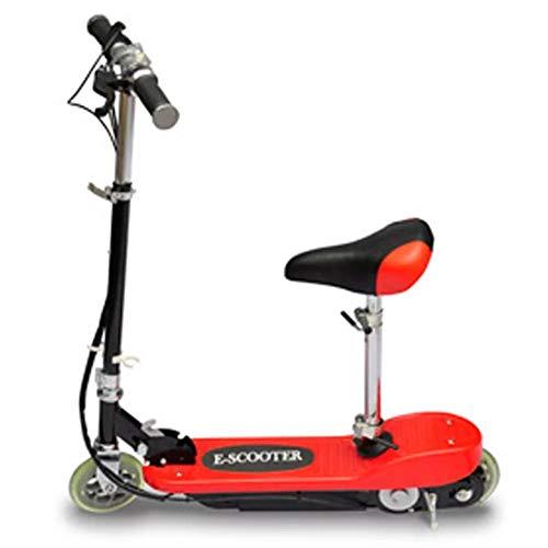 fancyU Vidaxl Scooter Électrique avec Siège 120W Scooter Électrique Rouge