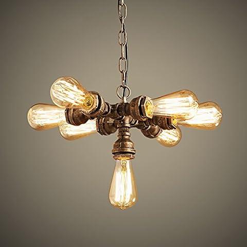 stile retrò LOFT industria dell'acqua personalizzato lampadario americano creativo ristorante