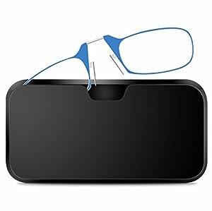 Lunettes de lecture compact avec étui de rangement adhésif Mini lunettes de vue Retro Specs lunettes loupe lunettes pince nez lunettes non glissantes, 3 corrections - Force +1.50, 3 Coloris