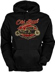 Old Skool Baumwolle, Kapuzensweatshirt Old skool gearhead cooles Design mit heißem Auto