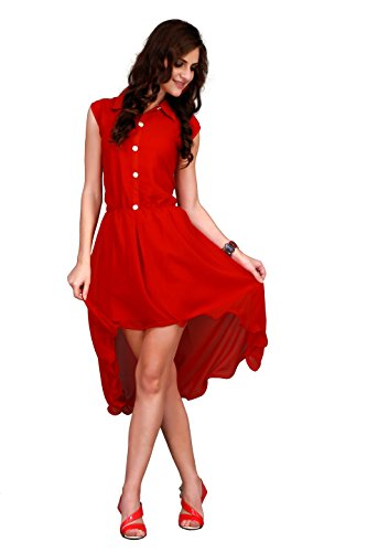 Fancy Red Color Western Wear Top(free Size)