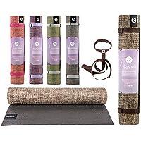 Sternitz Esterilla de Yoga ó Pilates Antiresbalante - Acolchada - Ecológica - Transportable. (Negro)