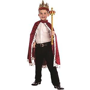 Dress up America - Traje de Rey para niños, Color Rojo, Talla única (849-R)