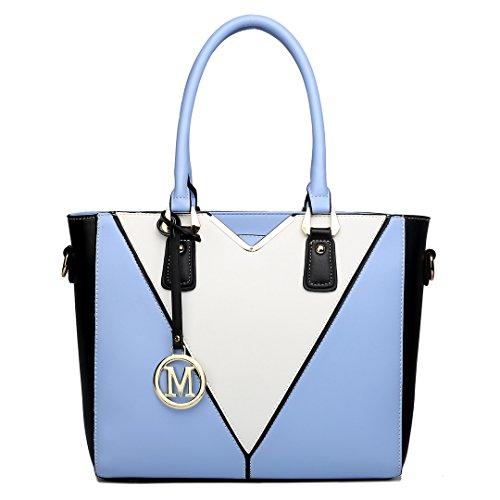 Miss Lulu , Damen Tote-Tasche 1641 Blue