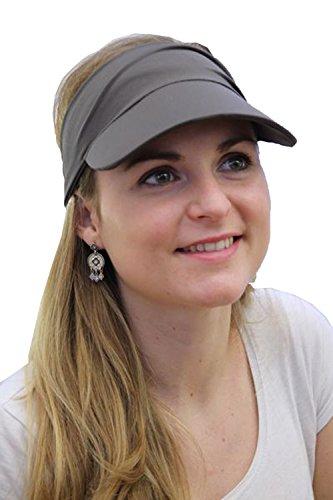 LookHatMe Stirnband mit Schild Visor Penne - 002 Farbe 141 grau