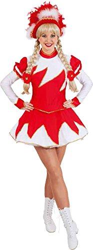 Orlob Damen Kostüm Garde Funkenkostüm rot-weiß Karneval Fasching Gr.42