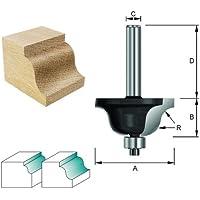 ENT Römischer Profilfräser HW (HM), Schaft (C) 8 mm, Durchmesser (A) 27 mm, B 11,9 mm, R 4 mm, D 32 mm, mit Kugellager