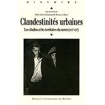 Clandestinités urbaines: Les citadins et les territoires du secret (xvie-xxe)