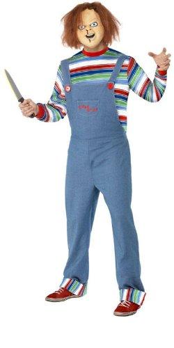 Herren Kostüm Chucky die Mörderpuppe Mörder Killer Halloween Größe M (Halloween-kostüme Chucky Erwachsene Für)