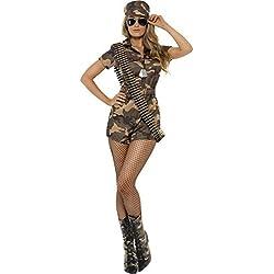 Mujer Militar Disfraz Niña Talla Mediana