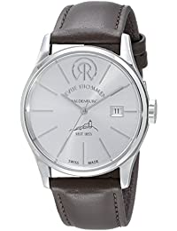 Revue Thommen 1853 - Classic Men's Automatic Watch with Silver Dial Analogue Display and Brown Leather Strap 101.01.01