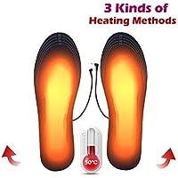 Womdee Soletta riscaldante USB, 2019 Nuovo Solette per Scarpe riscaldate elettriche Solette per Scarpe riscaldate con Taglio Lavabile Solette a infrarossi in Fibra di Carbonio Materiali Elastici