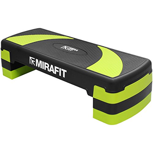 41OQffrS5bL. SS500  - Mirafit 3 Level Aerobic Exercise Stepper Board - Black/Green