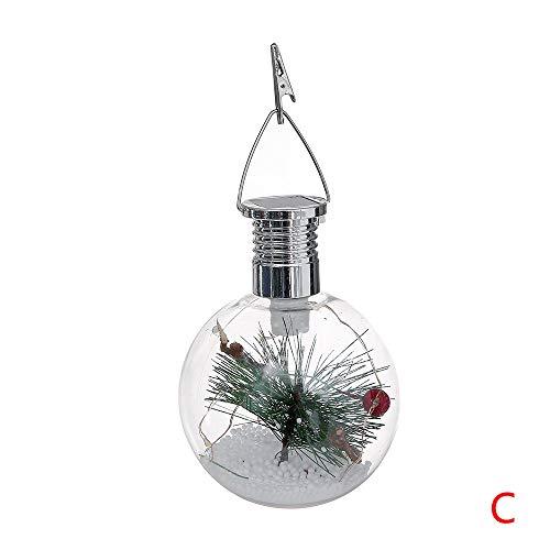 (LoveLeiter Weihnachtsaußensonnen-Kupferdraht-kugelförmige Birnen-Suspendierungs-Lampe LED(C))