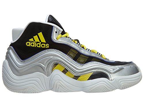 Adidas Crazy 2 scarpe da basket degli uomini Stile: S83922-sil / metll / flash Dimensione: 8 M Us Silver Metallic/Light Yellow/Night Flash