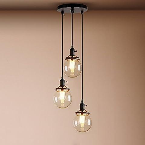 Pathson Industrial Modern Vintage Loft Bar Edison Ceiling Pendant Lights