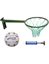 Long Reach Netball Ring INCLUDES size 5 netball (Robust Ring made in Britain) & 2 Years Warranty Supplied complete with pump. Regulation Size Ideal for training