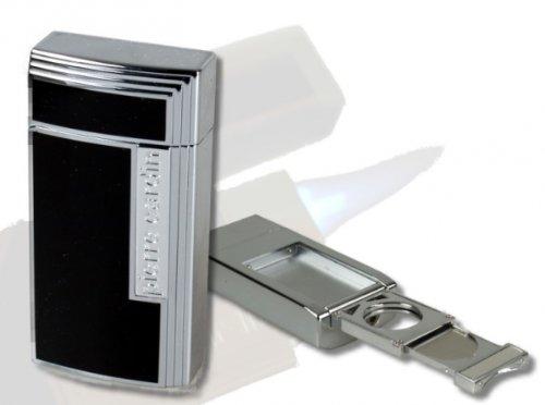Dior-couture-kleider (Pierre Cardin Chamonix Zigarren-Feuerzeug chrom-schwarz)