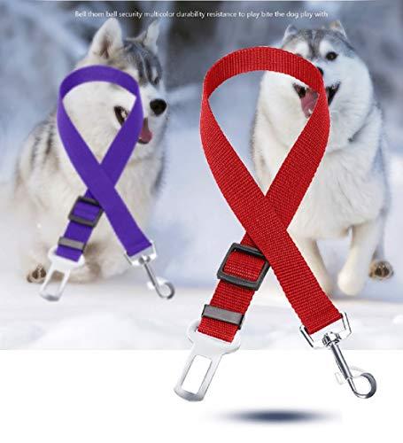 Cintura di Sicurezza per Cani e Gatti impedisce al Vostro Cucciolo di attenuazione degli Urti Imbracatura di Sicurezza Regolabile per Auto KayMayn