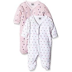 Care Pijama Bebé-Niñas, Pack de 2 Rosa (Light red 500) 18 meses