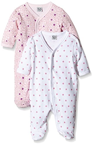 Care pigiama bimba 0-24 (pacco da 2)    rosa (light red 500) 9 mesi