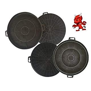 Mega saving Set 4 Activated Carbon Filter Filters Carbon Filter for Exhaust Hood Cooker Hood Alno AEF3410N, AEF3420N