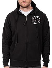 Kleidung & Accessoires West Coast Choppers Schwarz Chapel Ärmelloser Kapuzenpullover Sport-kapuzenpullis & -sweatshirts