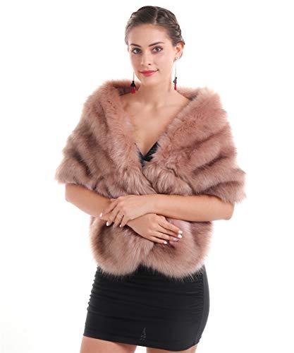 Saferin Chaqueta cuello abrigo bufanda mujeres