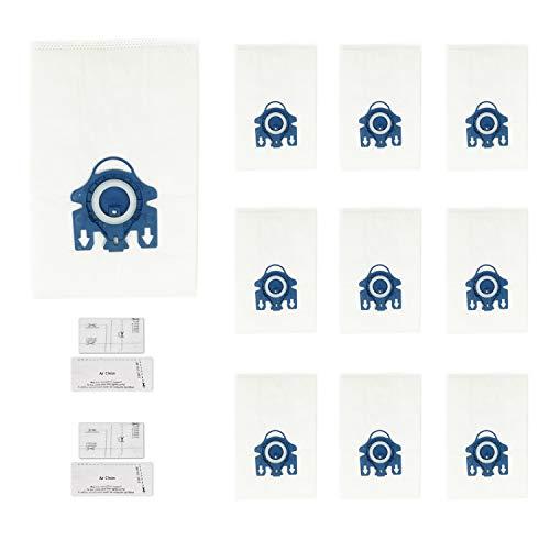 Green Label Empaque de 10 Bolsas 3D de Tipo AirClean GN y 4 MicroFiltros para Aspiradora Miele 10+4...