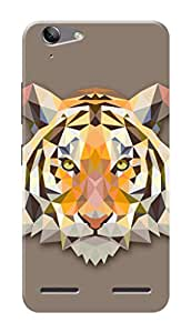 Lenovo Vibe K5 Black Hard Printed Case Cover by Hachi - Tiger Design
