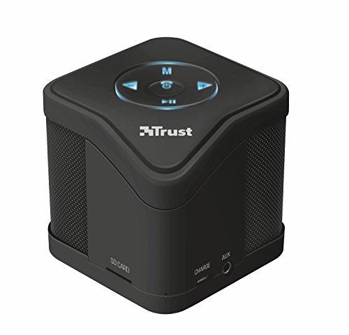 Trust urban muzo altoparlante wireless bluetooth con lettore mp3 per micro-sd, per smartphone e tablet, nero