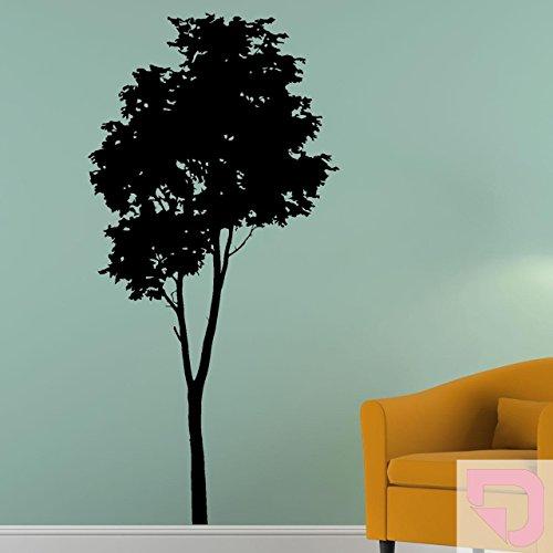 Pastell Schatten (DESIGNSCAPE® Wandtattoo Baum Silhouette | Puristischer Wandtattoo Baum | Laubbaum 59 x 120 cm (Breite x Höhe) pastell-rosa DW804141-S-F98)