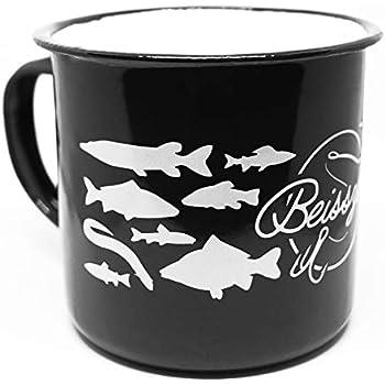 Fox Edelstahl Tasse Stainless Black 400ml Mug Kaffee Tee Camping Outdoor Angeln
